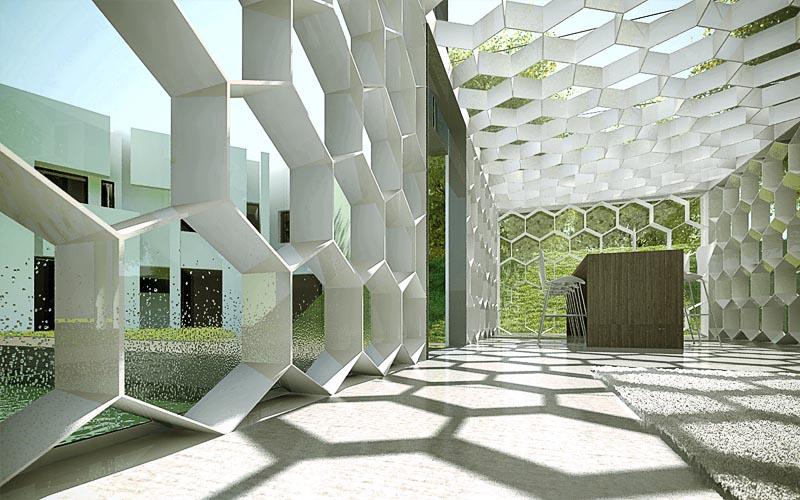 Architekturvisualisierung 3d Design Waben