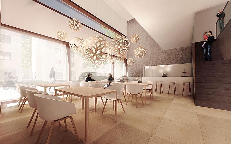 3d-Visualisierung Restaurant