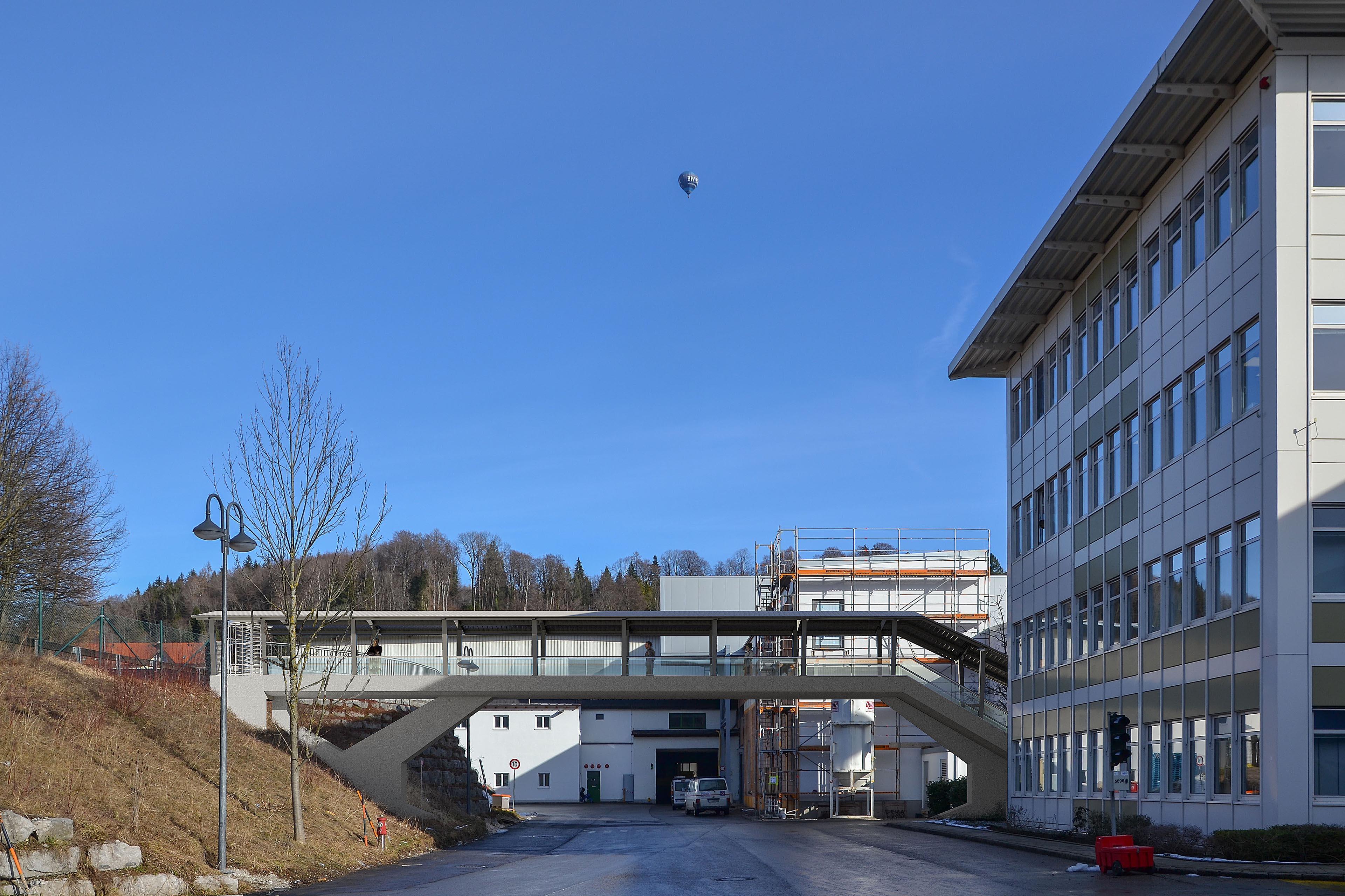 Architekturvisualisierung Fußgängerbrücke