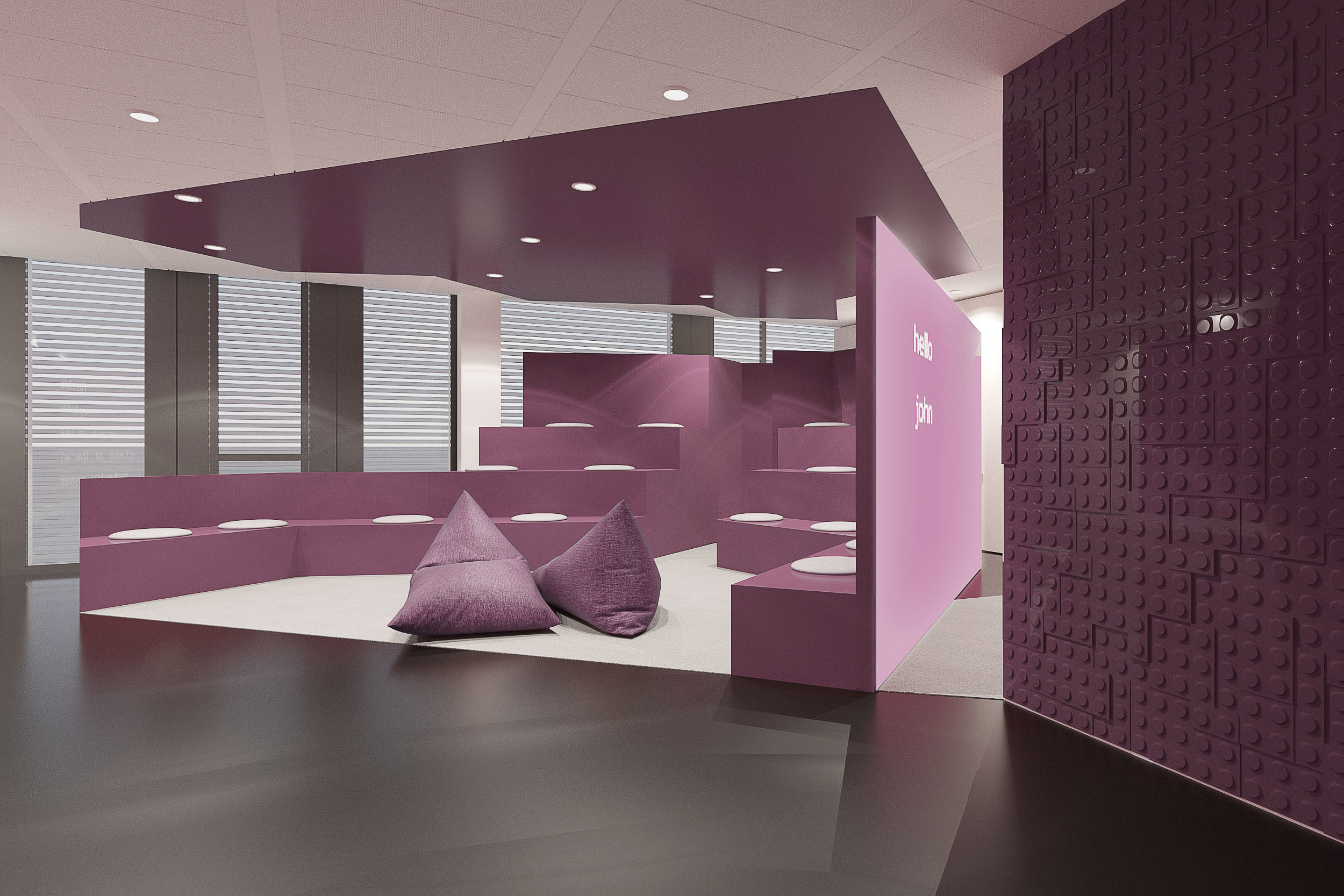 Innenraumvisualisierung Geschäftsräume