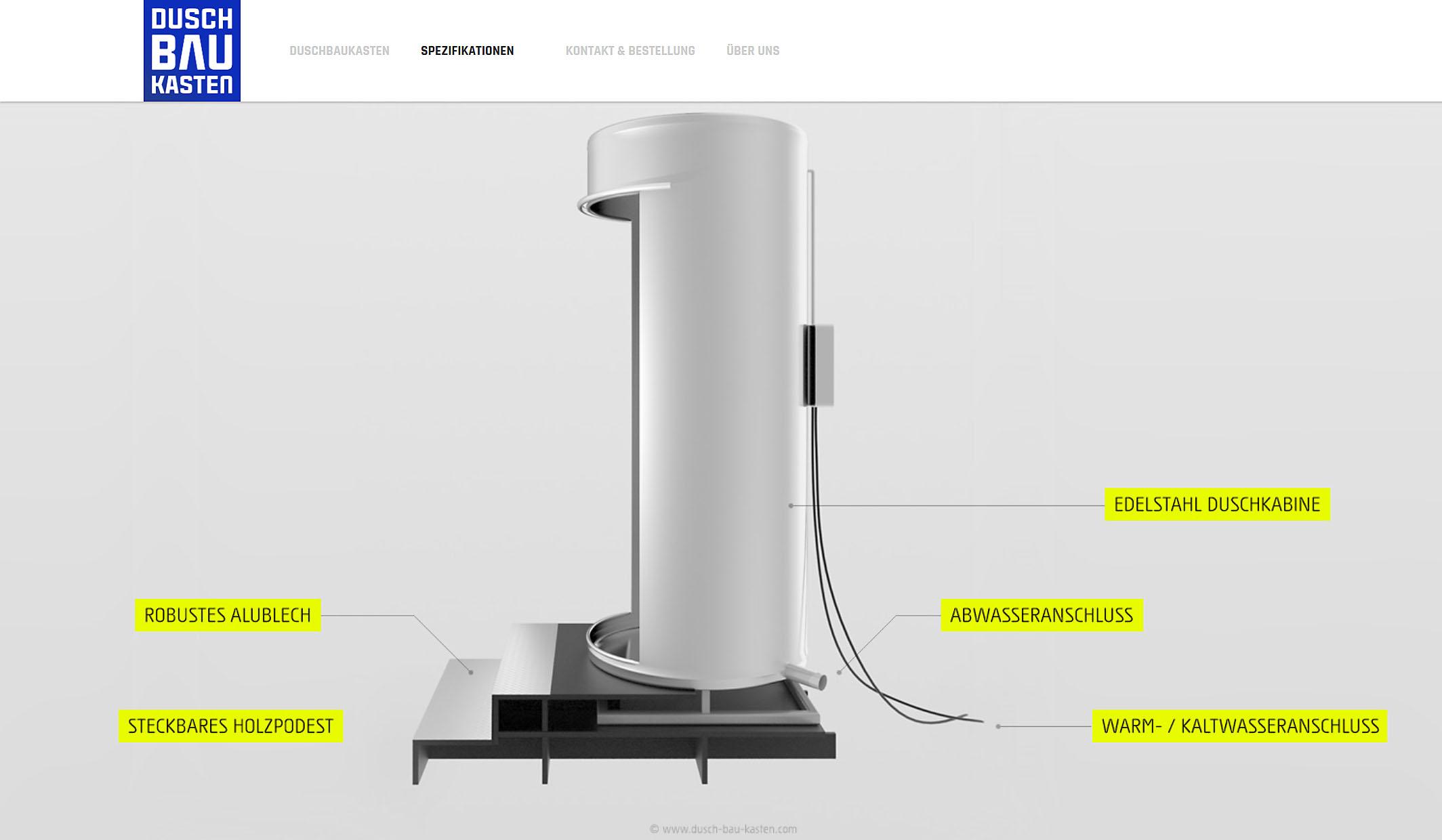 Visualisierung Duschcontainer