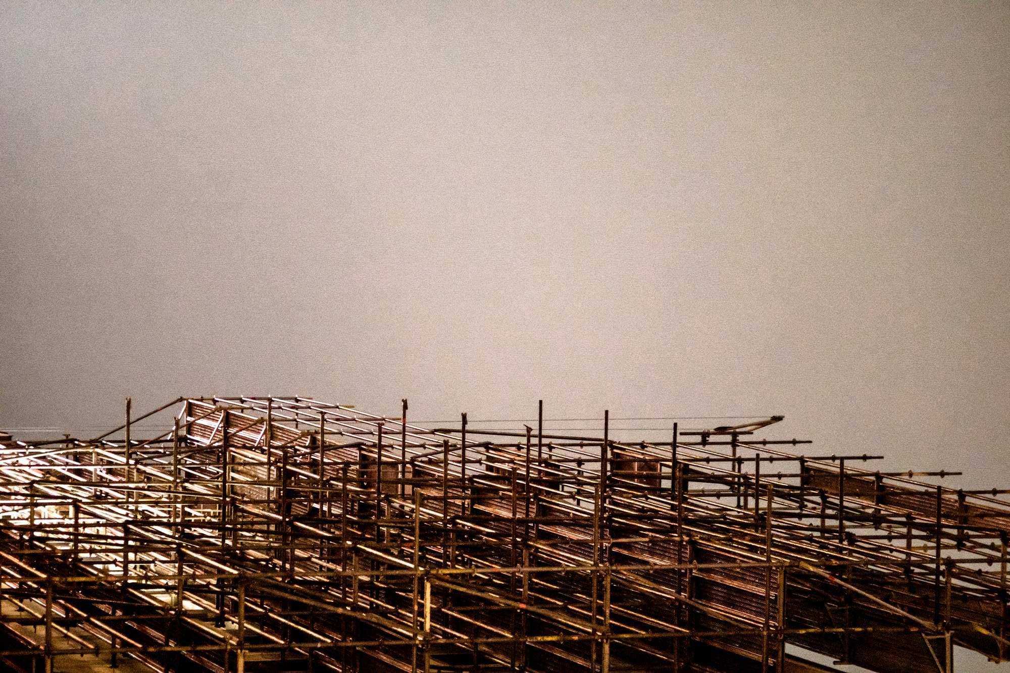 Architekturfotografie abstrakt Gerüst