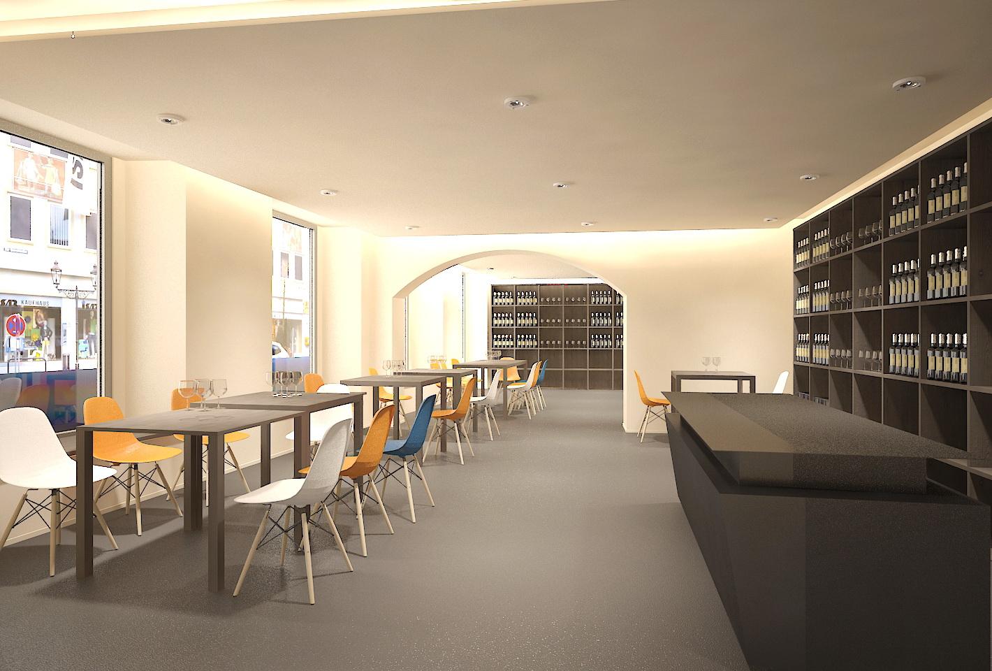 Visualisierung interior Cafe