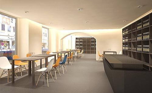 Architekturvisualisierung Cafe