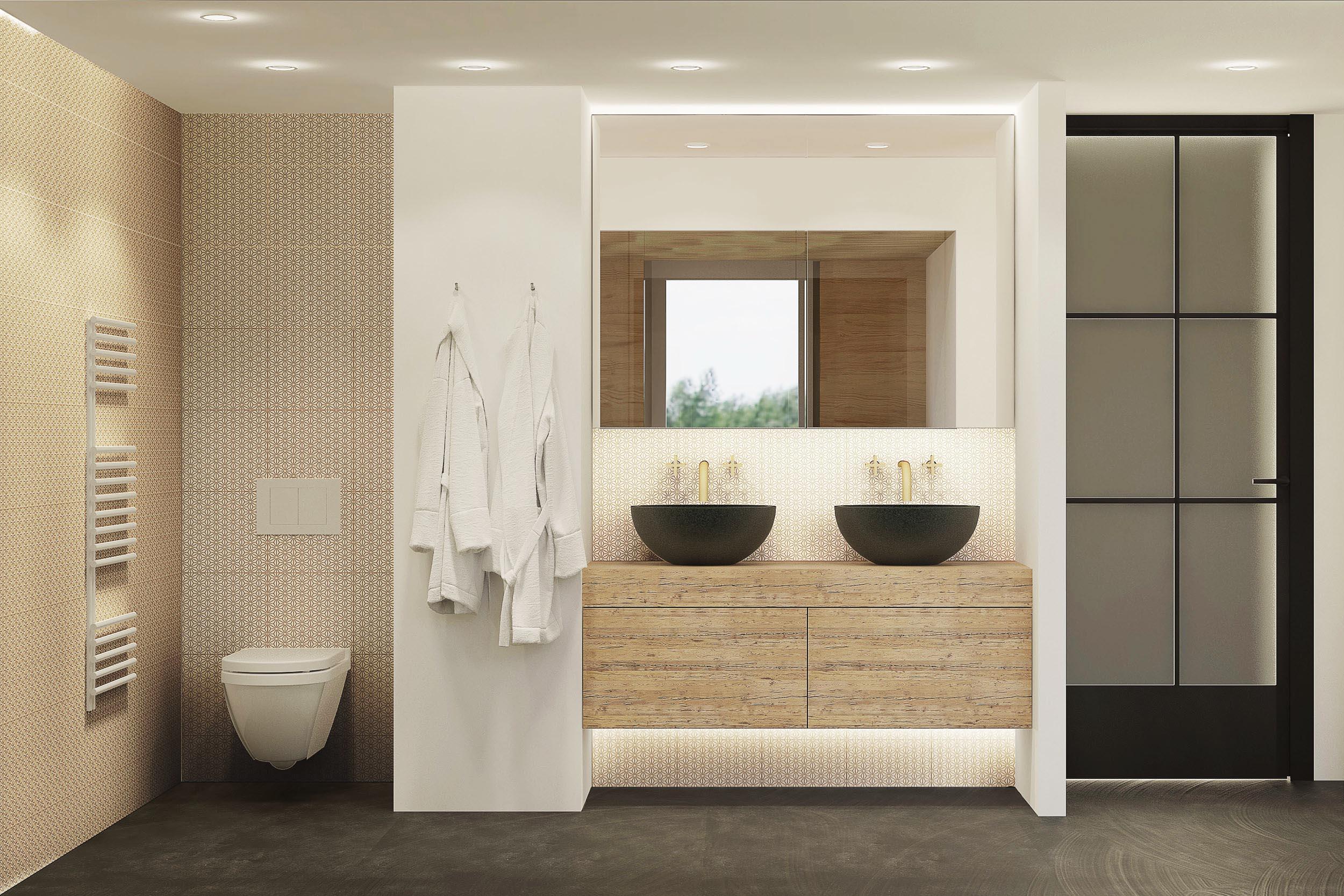 Architekturvisualisierung Innenraum Masterbad