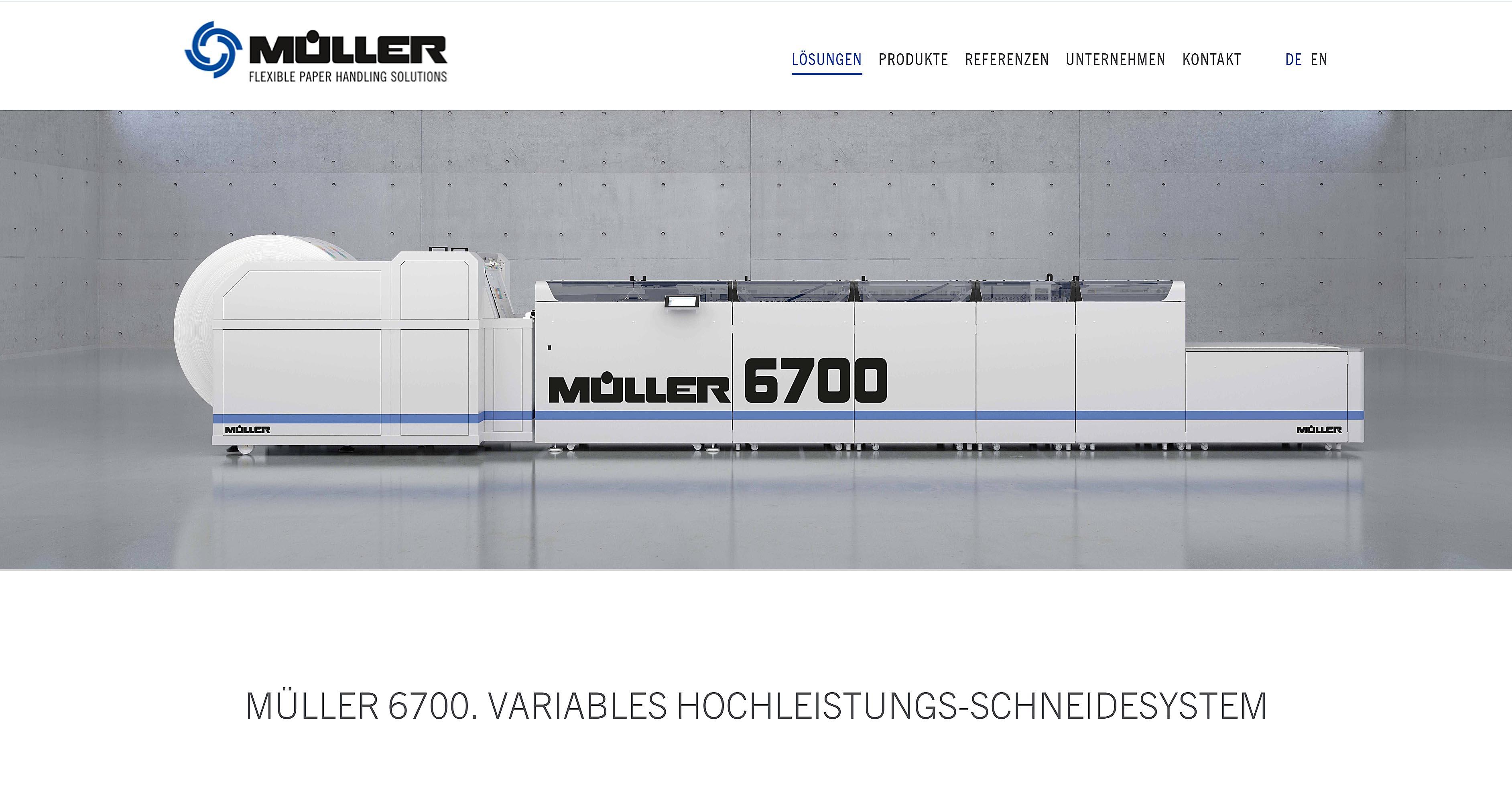 Produktvisualisierung Müller Apparatebau Linie 6700