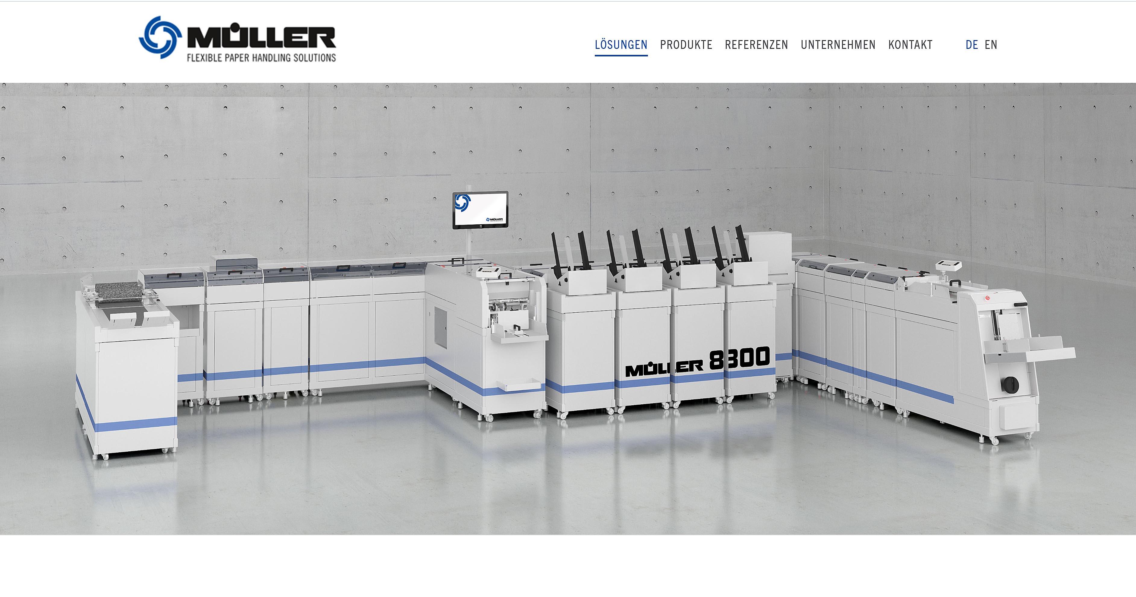 Produktvisualisierung Müller Apparatebau Linie 8300
