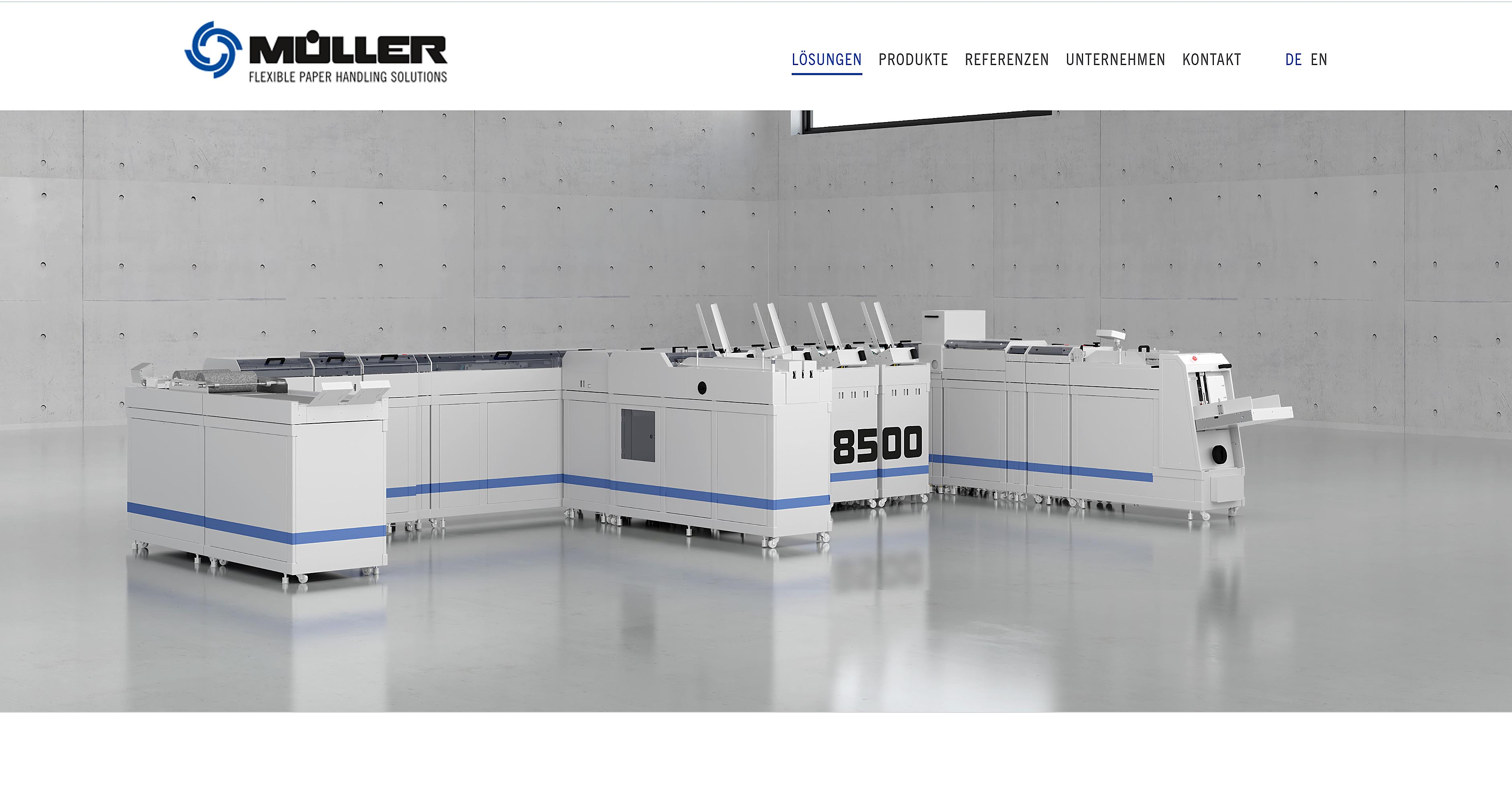 Produktvisualisierung Müller Apparatebau Linie 8500