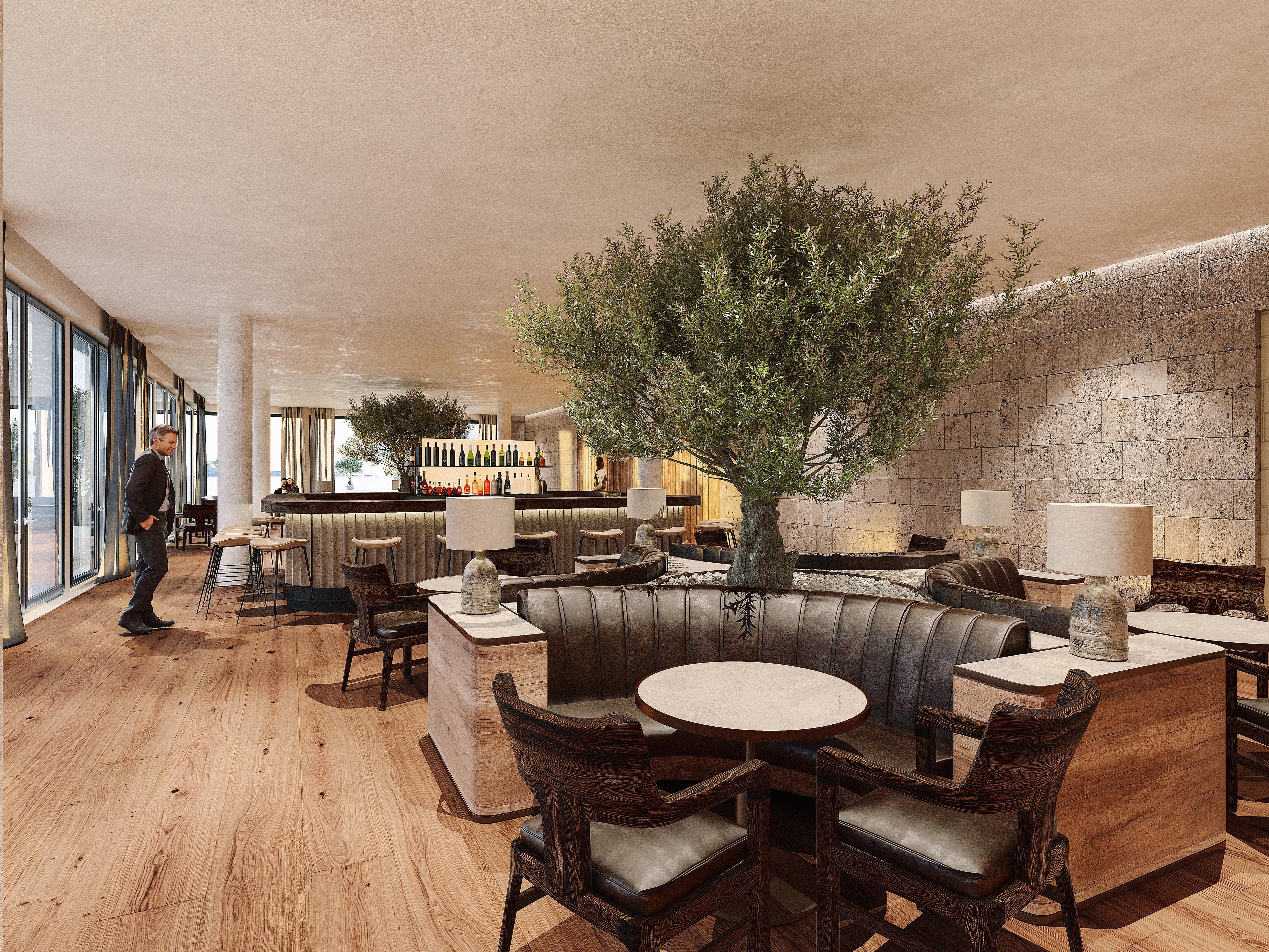 Architekturvisualisierung Interior Bar Hotel Split