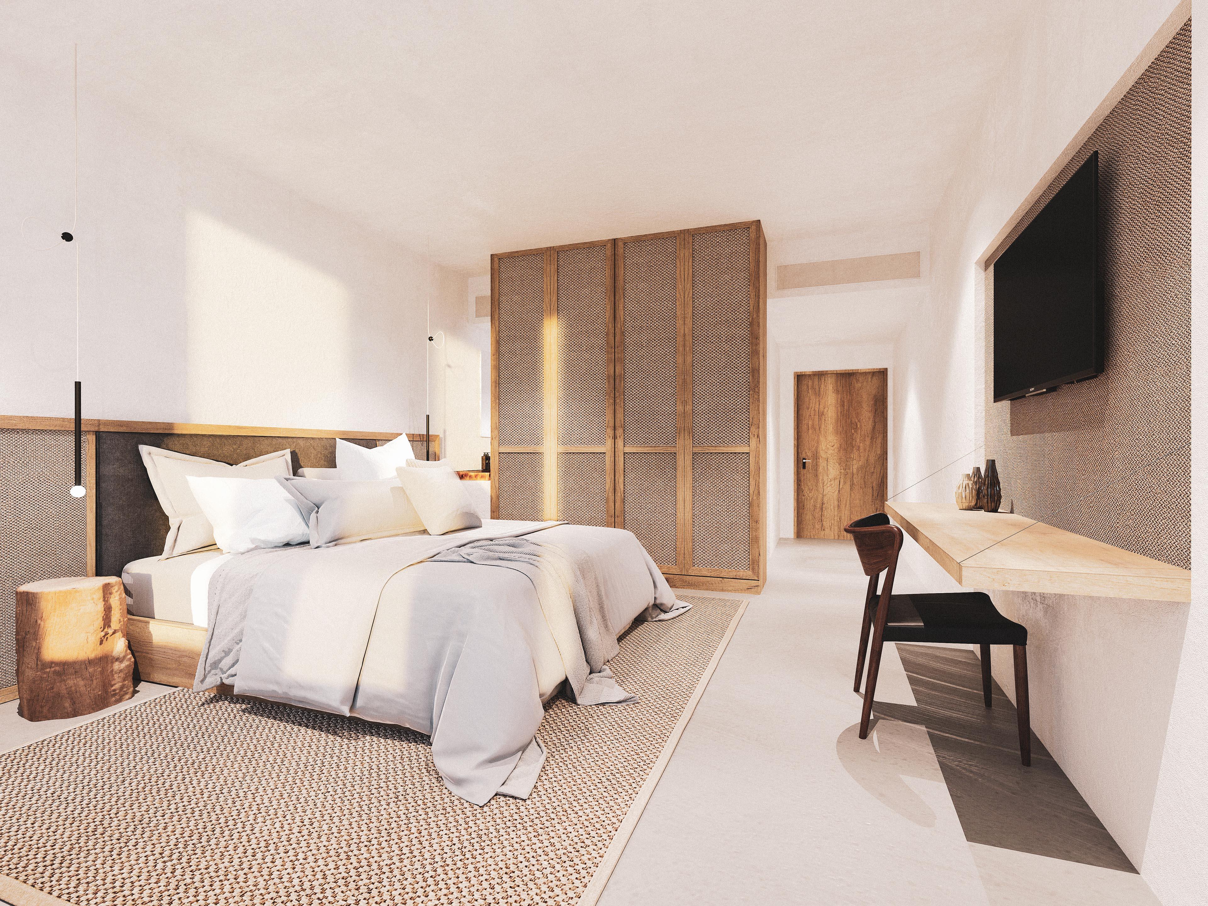Architekturvisualisierung Interior Zimmer Hotel Split
