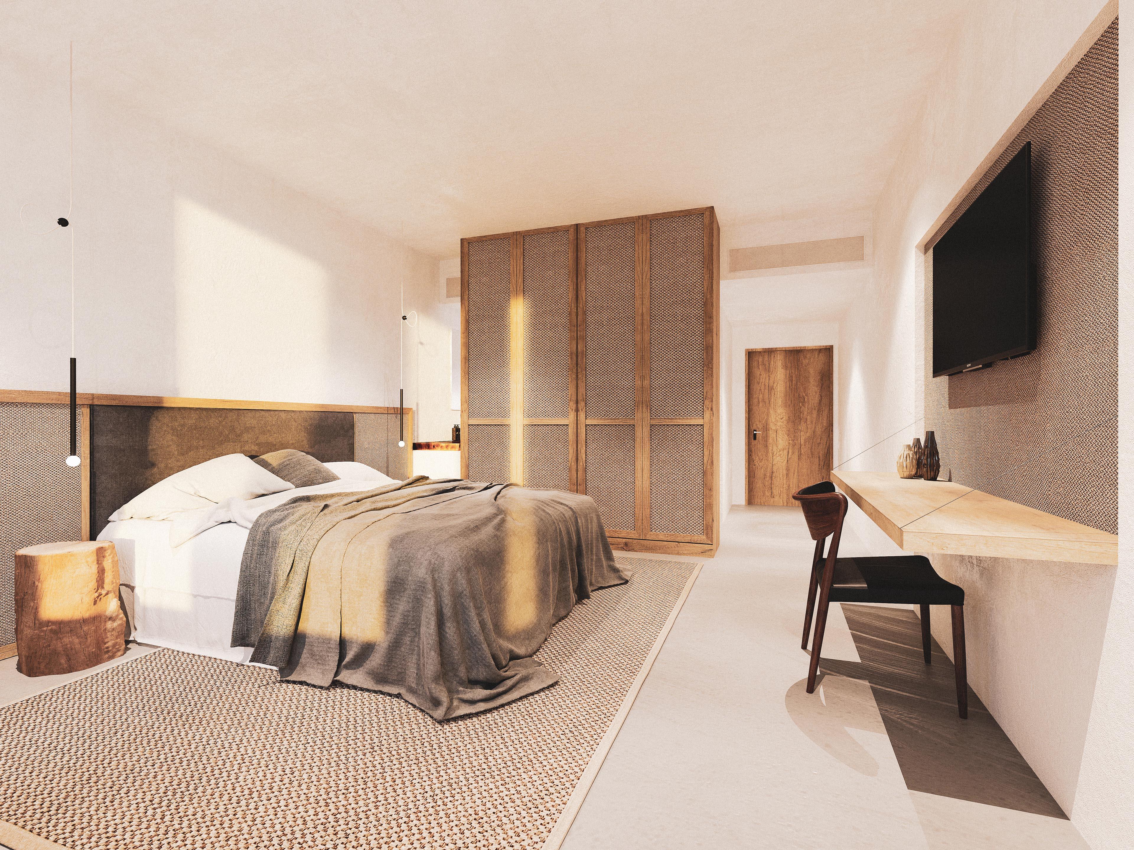 Architekturvisualisierung Zimmer Interior Hotel Split