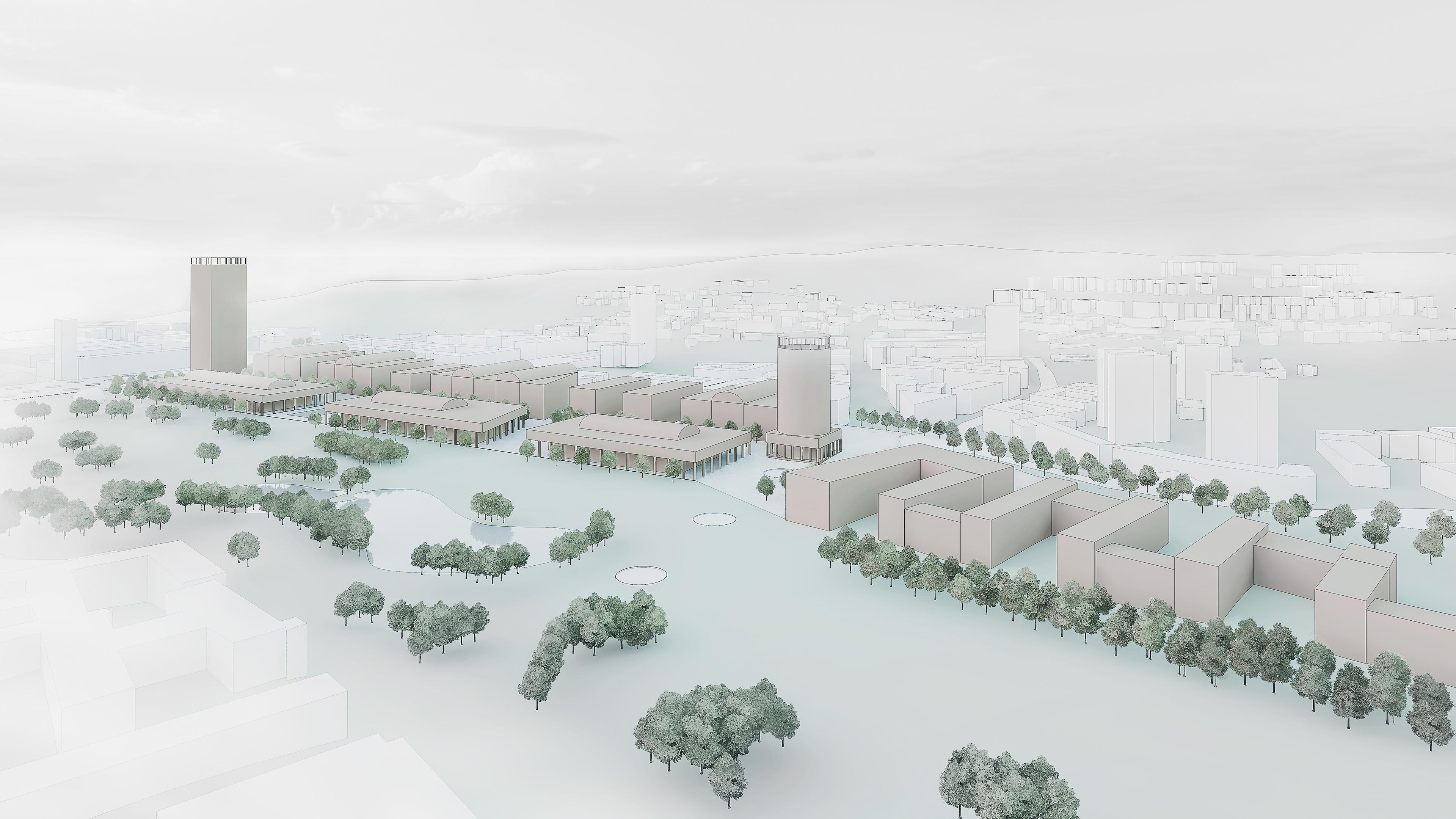 Wettbewerbsvisualisierung Stuttgart 21