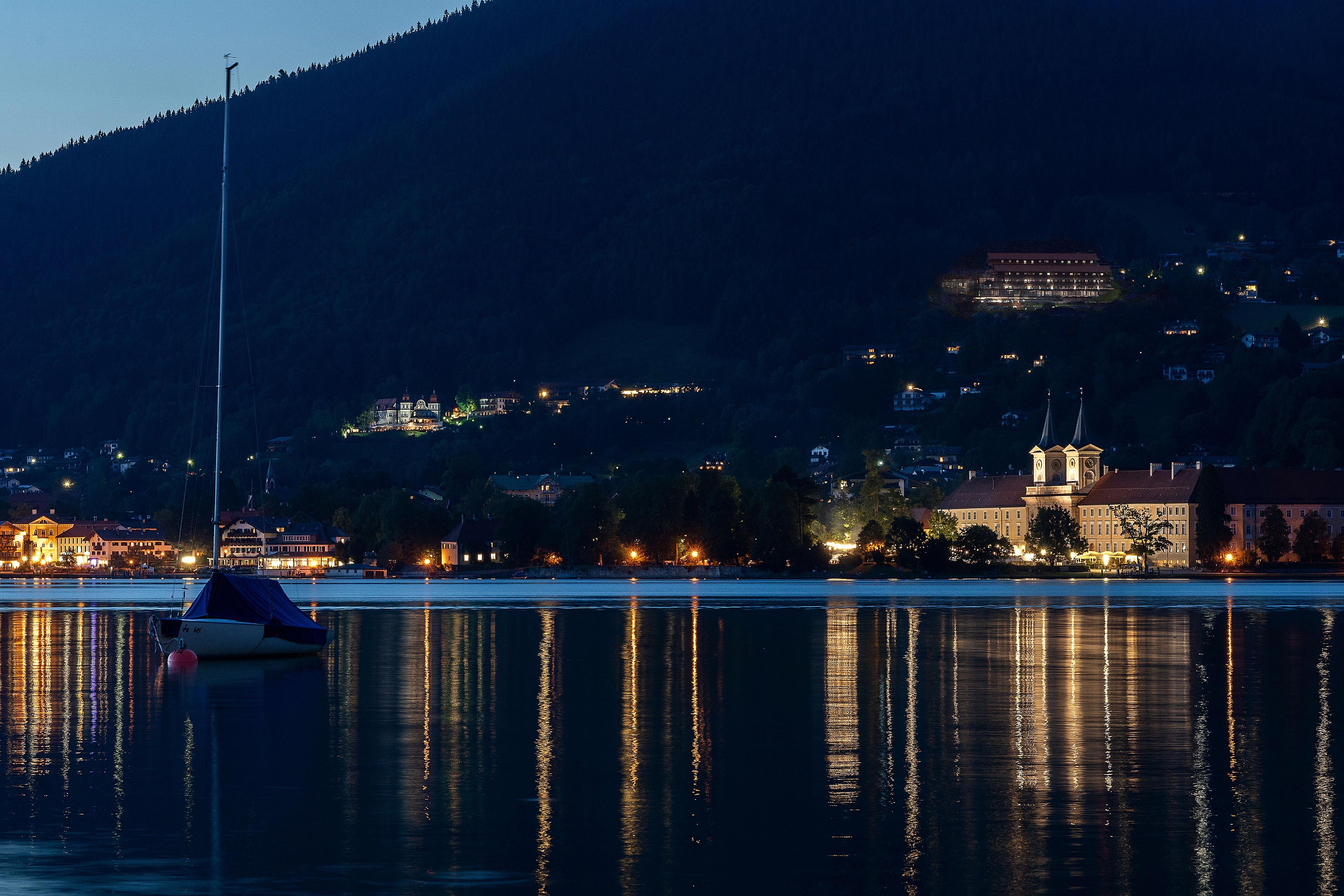 Nachtfoto Visualisierung Hotel Westerhof, Tegernsee