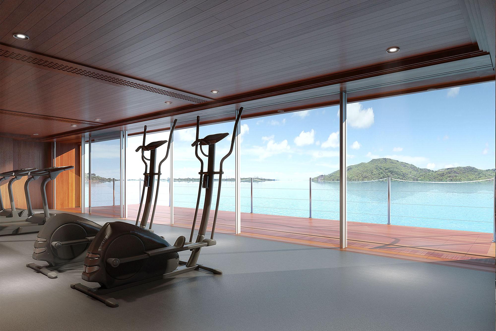 Interior 3d Yacht Gym
